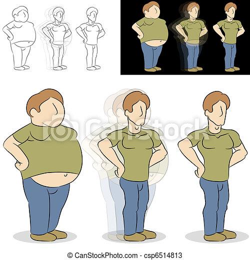 Man Losing Weight Transformation - csp6514813