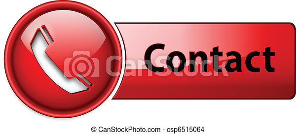 Telephone, contact icon button. - csp6515064