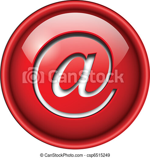 Email icon, button. - csp6515249