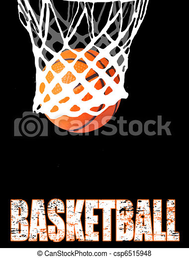 Basketball hoop and ball - csp6515948