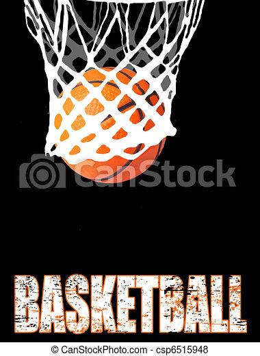 Basketball hoop and ball - csp6515948