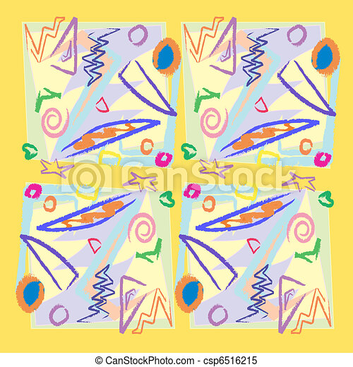 Scribbles and Shapes - csp6516215