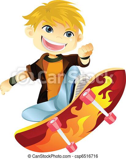 Skateboarding boy - csp6516716