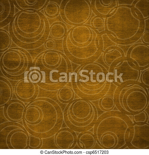 Abstract brown background with circles. Soft furnishings. - csp6517203