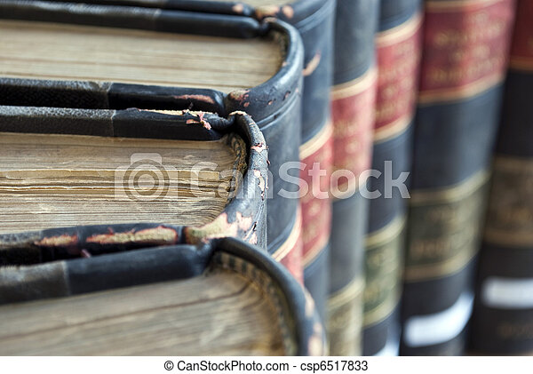 Closeup on Old Legal / Law Books - csp6517833