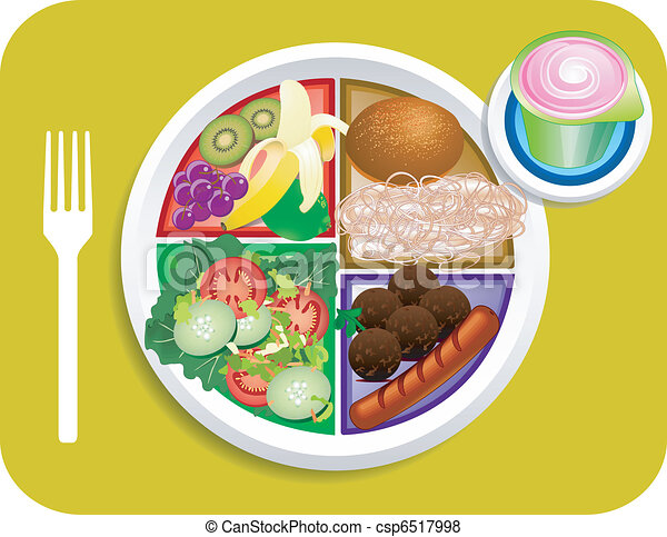Food My Plate Lunch Portions - csp6517998