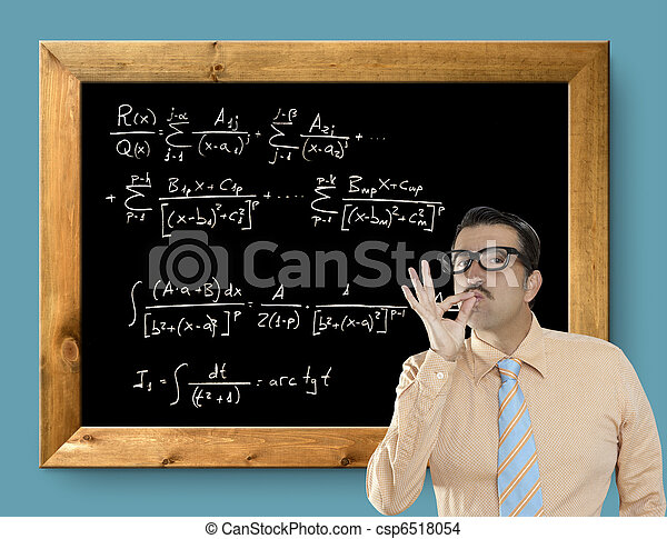 mathematical formula genius nerd geek easy resolve - csp6518054