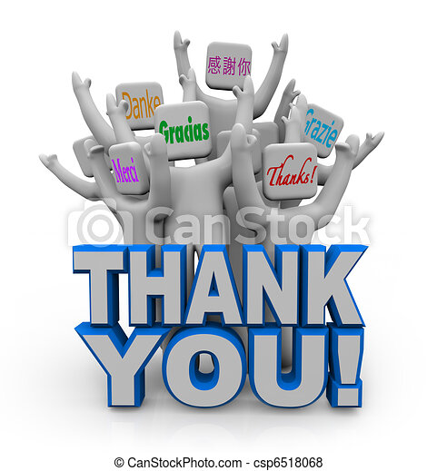 Thank You in Different International Languages - csp6518068