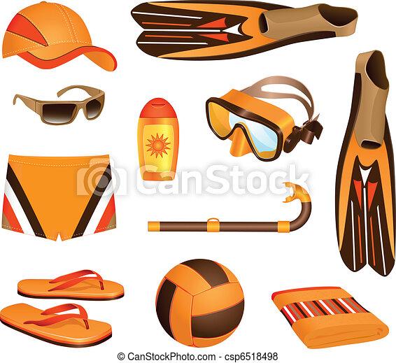 Beach accessories for man - csp6518498