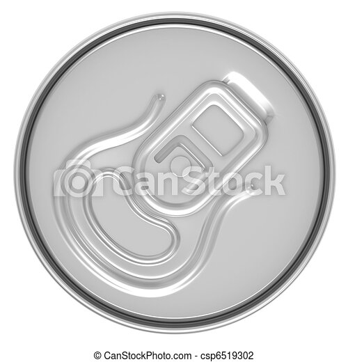 beer can top view - csp6519302