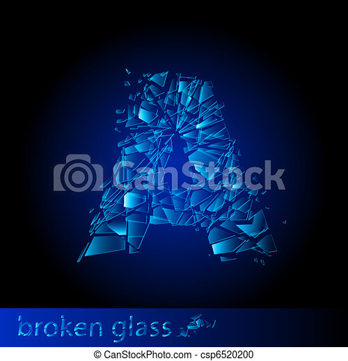 One letter of broken glass - csp6520200