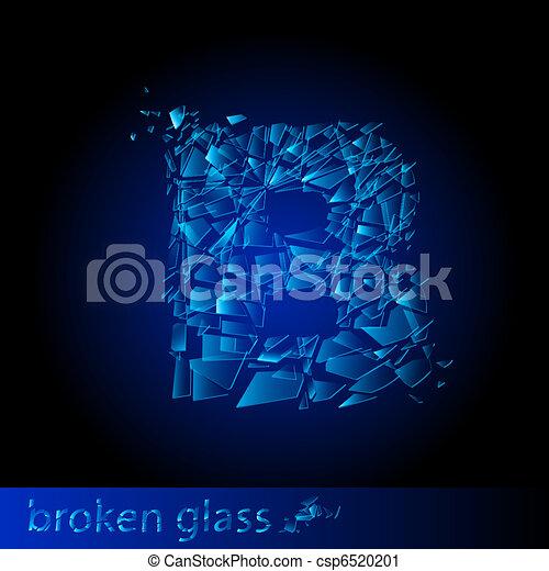 One letter of broken glass - csp6520201