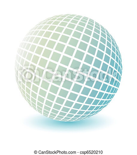 Soft colored globe vector. - csp6520210
