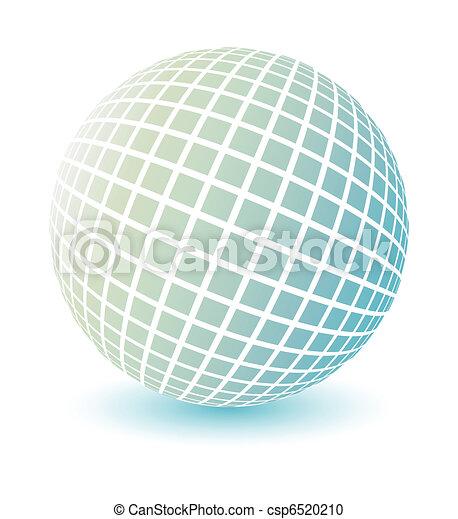 Soft colored globe vector.  - csp6520210