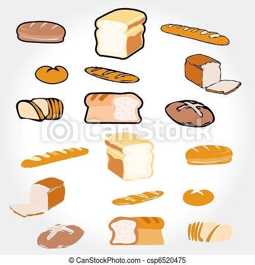 Bread Clipart Eps Images 5265 Bread Clip Art Vector Illustrations ...