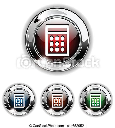 Calculator icon, button, vector ill - csp6520521