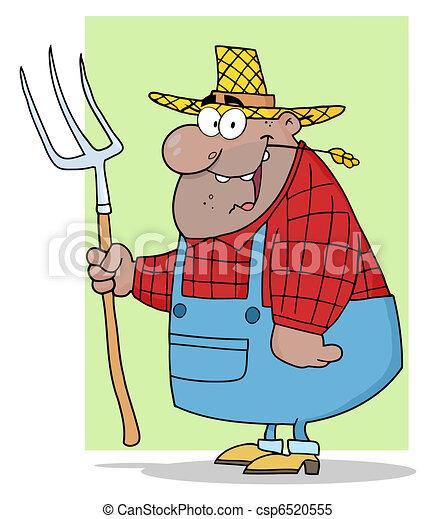African American Farmer Man  - csp6520555