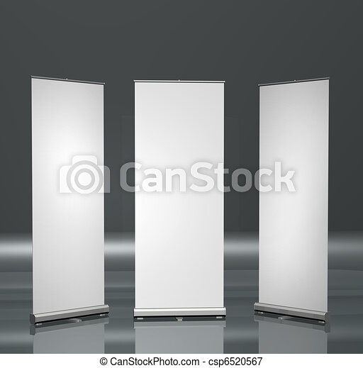 Blank roll-up posters - csp6520567