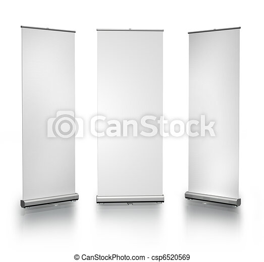 Blank roll-up posters - csp6520569