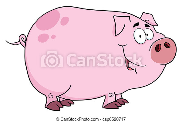 Pig Cartoon Character - csp6520717