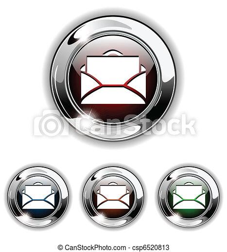 E-mail icon, button, vector illustr - csp6520813