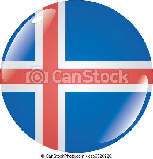 button in colors of Iceland - csp6520920