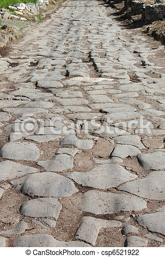 Appian way pavement - csp6521922