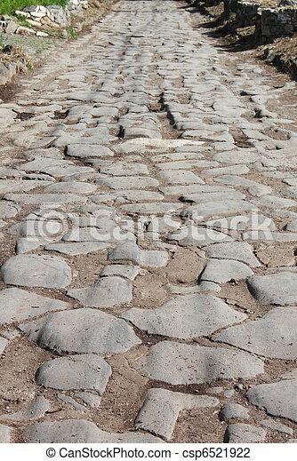 Appian way pavement - csp6521922