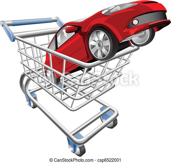 Car shopping cart concept - csp6522001