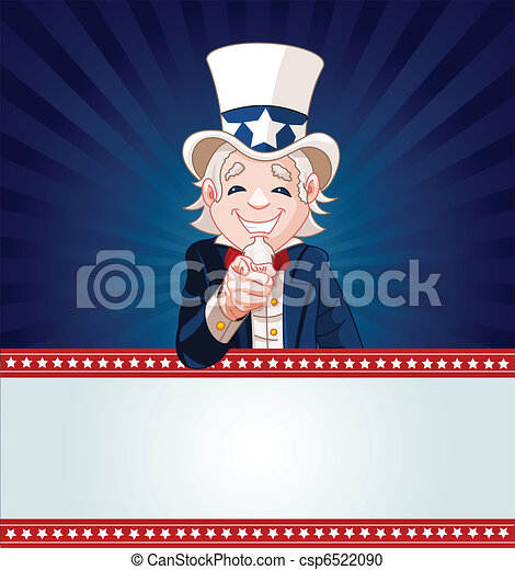 Uncle Sam Wants You! - csp6522090