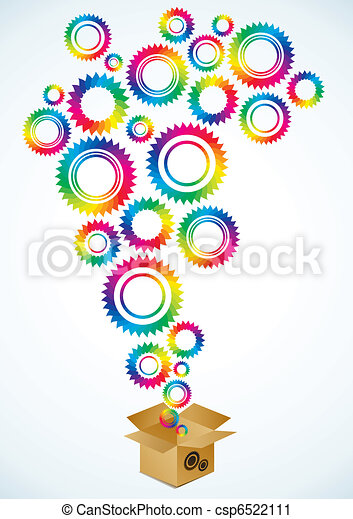 Bright gears of different colors - csp6522111