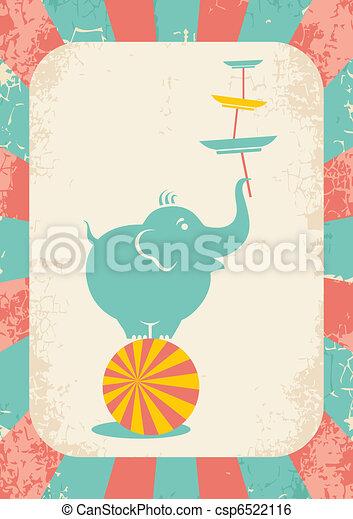 elephant on the ball - csp6522116