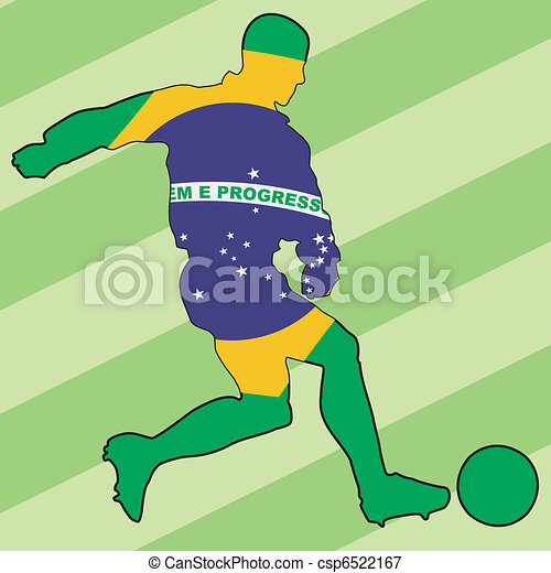 football colors of Brazil - csp6522167
