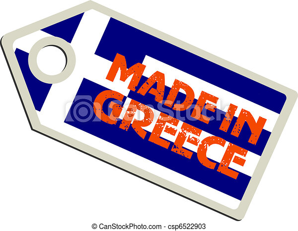 vector label Made in Greece - csp6522903