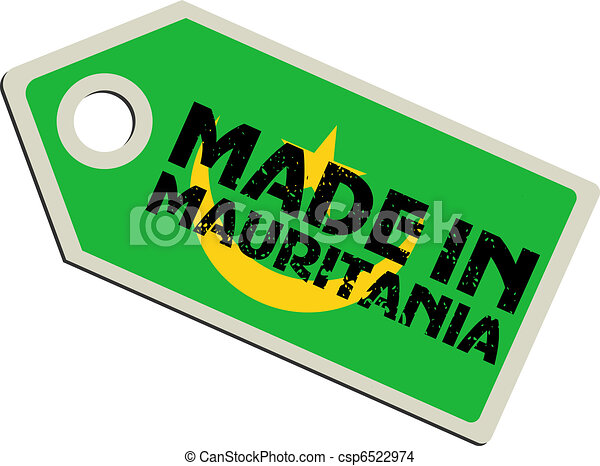 vector label Made in Mauritania - csp6522974