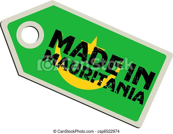 vector label Made in Mauritania - csp6522974