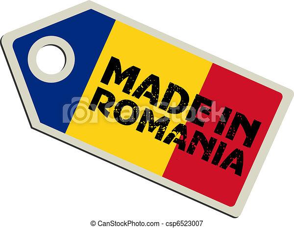 vector label Made in Romania - csp6523007