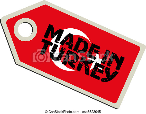 vector label Made in Turkey - csp6523045