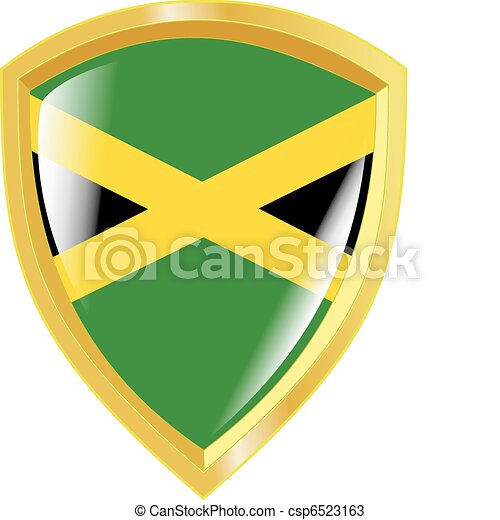 golden emblem of Jamaica - csp6523163