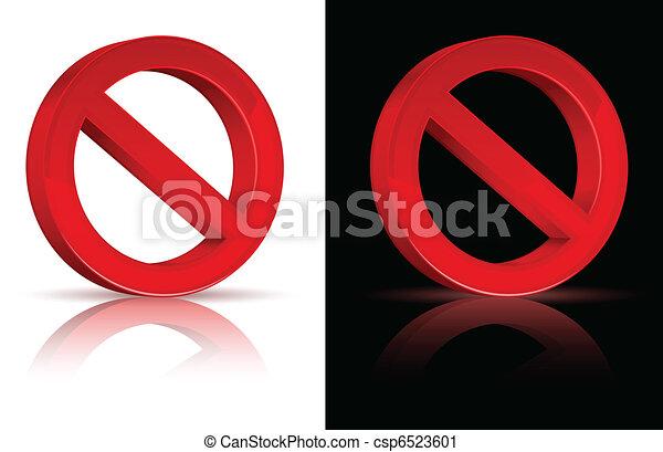 Forbidden sign  - csp6523601