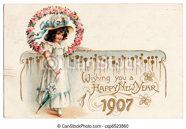 Public Domain Postcard from 1907 - csp6523860