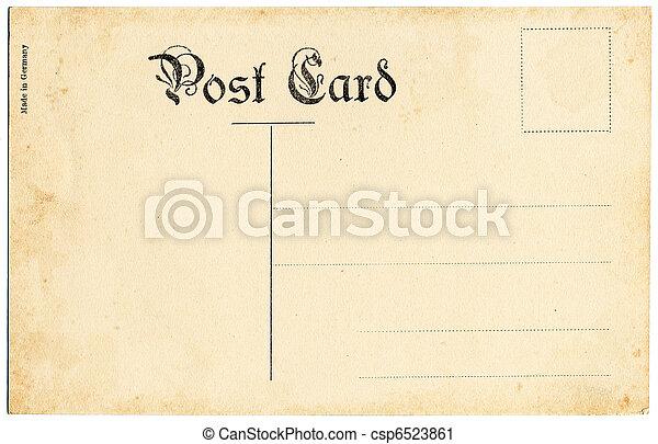antikvitet, vykort - csp6523861