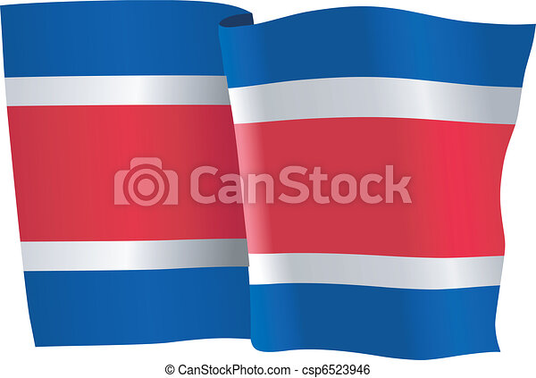 flag of Costa Rica - csp6523946