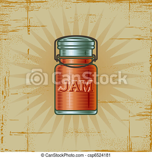 Retro Jam Jar - csp6524181