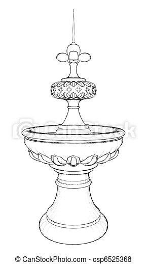 Classic Fountain - csp6525368