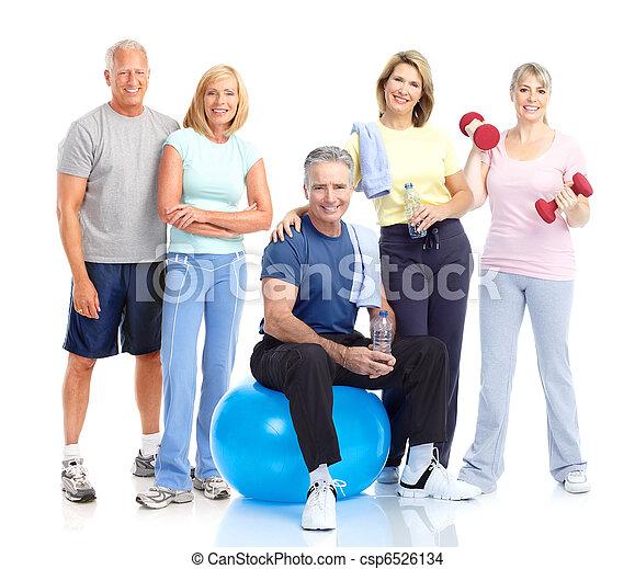 Healthy elderly people. - csp6526134