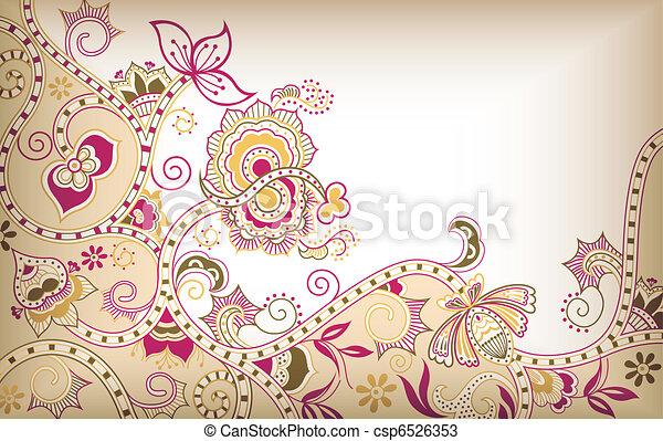 Asia Floral - csp6526353