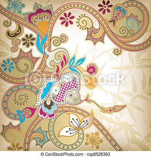 Asia Floral - csp6526363