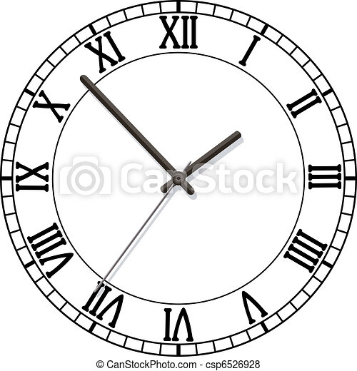 clock dial with roman numbers - csp6526928