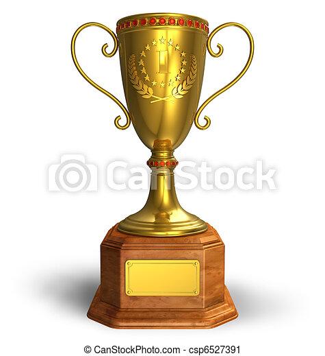 Gold trophy cup - csp6527391